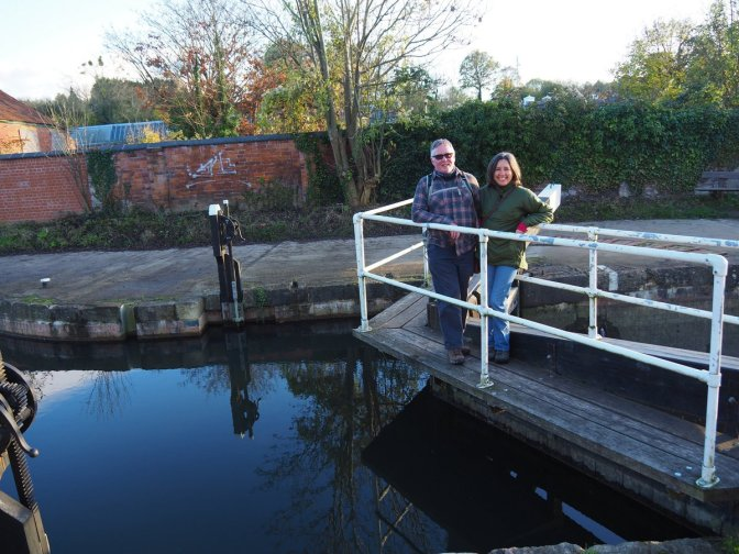 Ian & Shelley at the restored canal in Stroud