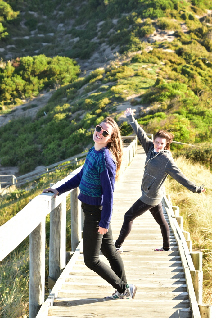 Maddy and Becky in Bruny