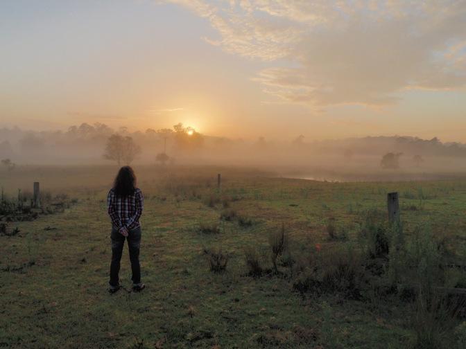 Sunrise at Linga Longa Farm