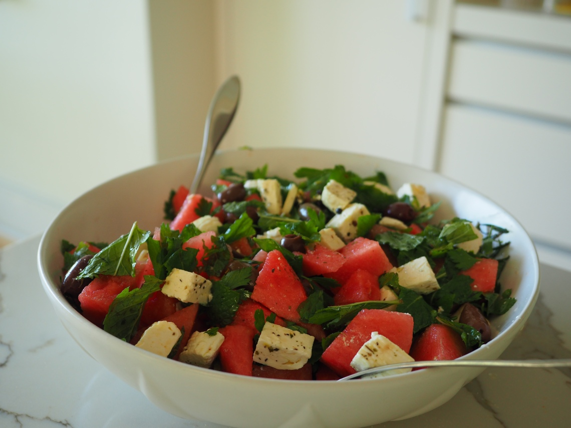 Watermelon Salad with homemade Feta