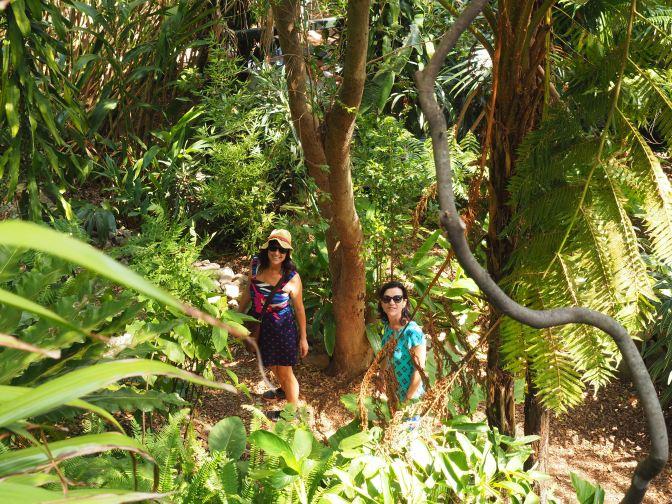 Jenni and Carol in the Secret Garden