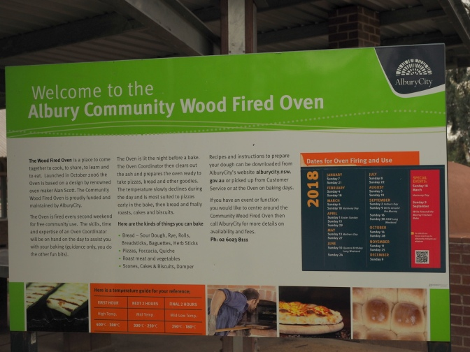 Albury Community Wood Fired Oven