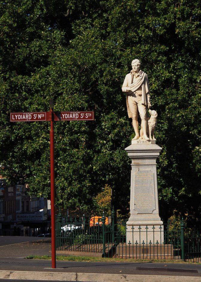 Rabbie Burns Statue Ballarat