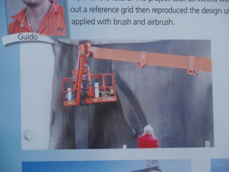 Guido on the crane