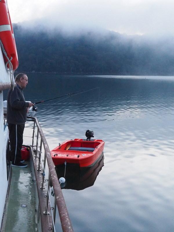 John early morning fishing