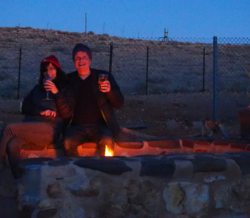 Drinking under the stars in  Coober Pedy