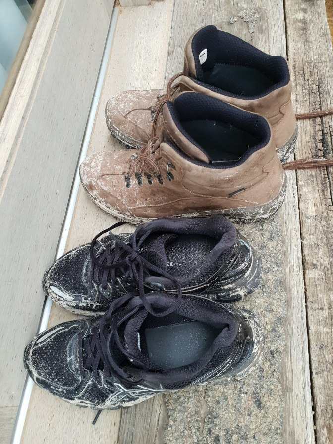 Walking boots and shoes
