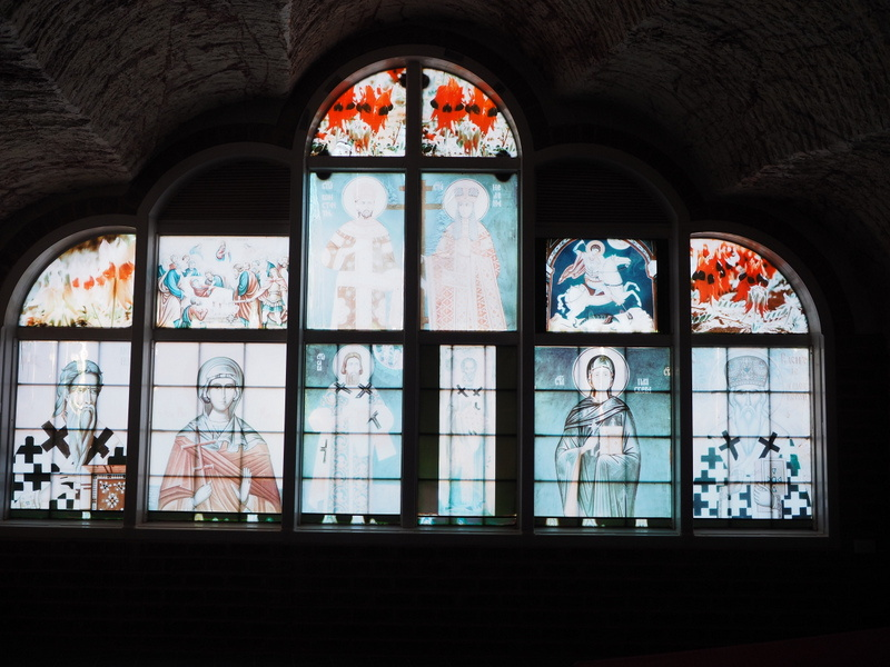 Stained Glass Window, Serbian Underground Church