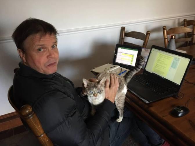 Essie the work cat