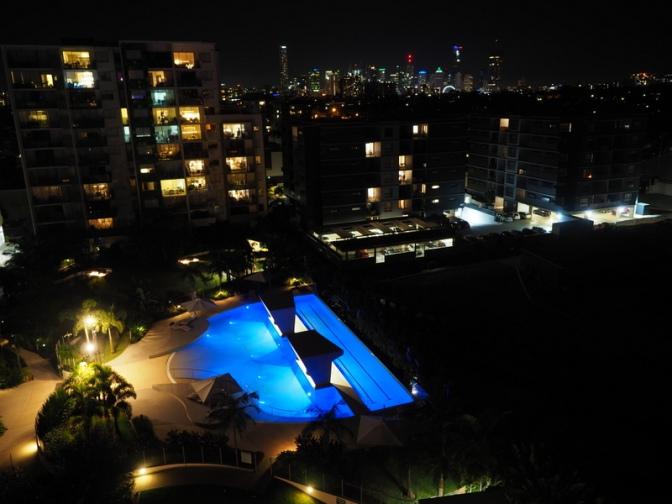 South Brisbane Resort City Skyline view