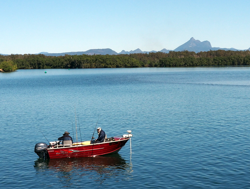 Fshing in the view of Mount Warning