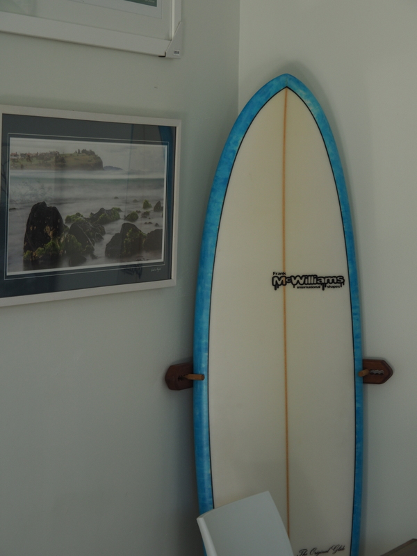 A McWilliams hand shaped surf board