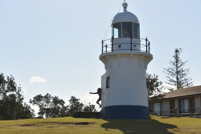 The Richmond River Light, Ballina (and Jenni)