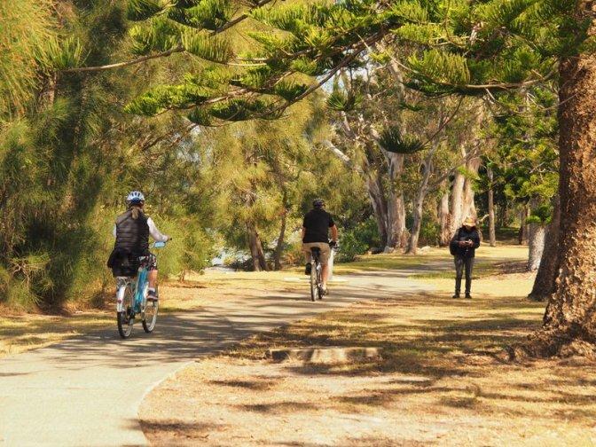 Work break on the cyclepath
