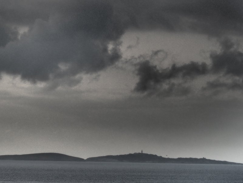 Monyague Island, stormy morning