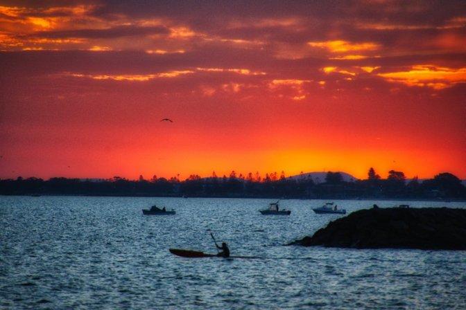 Sunset in Williamstown Beach