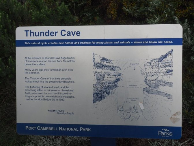 Thunder Cave sign