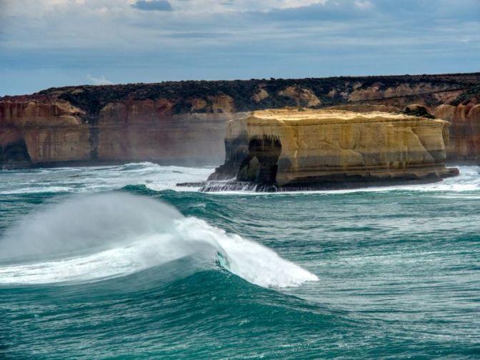 Stormy seas batter the coast