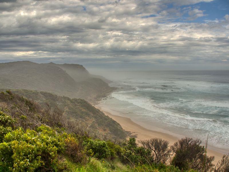 Coastal scene along the Great Ocean Road