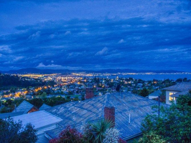 Hobart at night