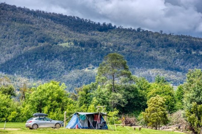 Camping under reasonable sky