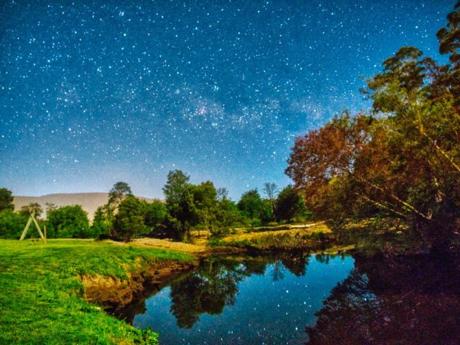 The Milky Way over the Huon River