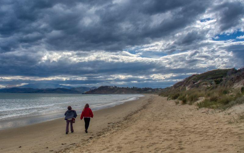 Storm clouds over Carleton Beach