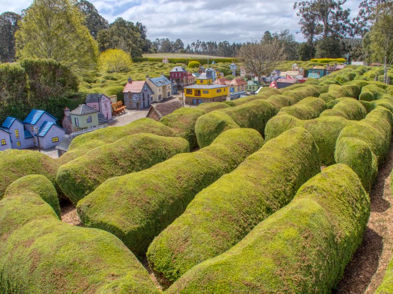 One of the Mazes of Tazmazia and the Model Village